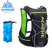 AONIJIE 5L Outdoor Backpack Marathon Vest Pockets Bag for Running Rucksack Cycling Safety Gear With 2L Hydration Bladder