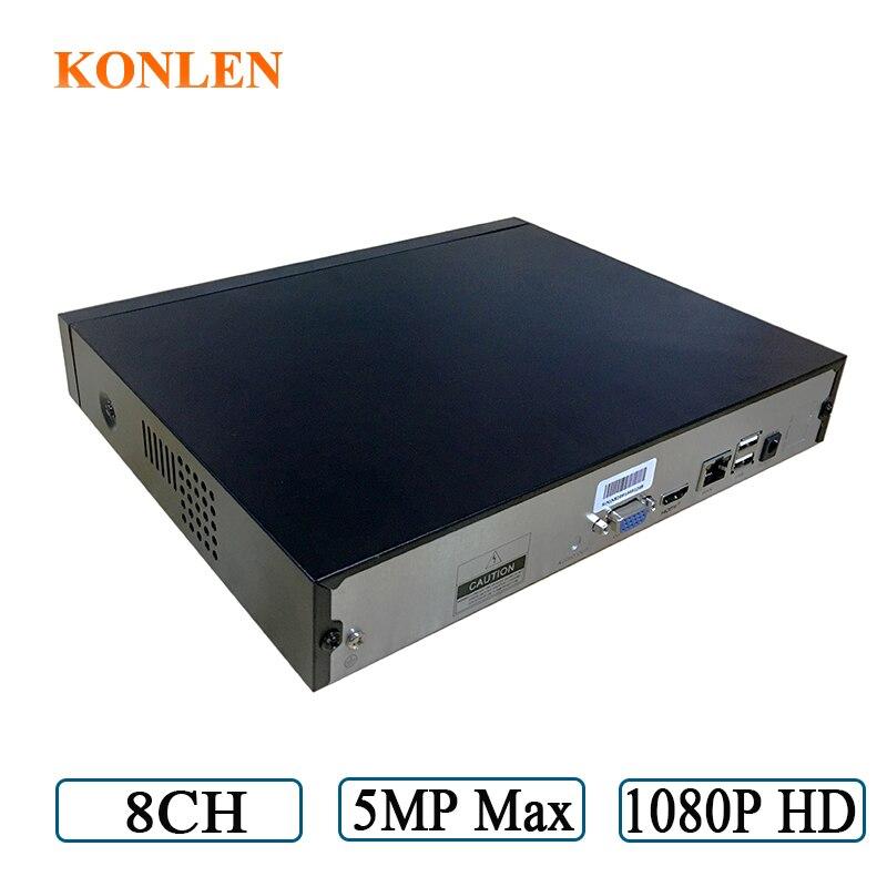 KONLEN 8CH NVR IP Network Video Recorder CCTV Onvif H 265 H 264 HDMI VGA USB