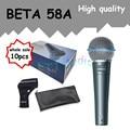 10 шт. оптовая Высокое Качество Beta 58A 58 Clear Sound Пульт Проводной Микрофон Караоке