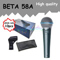 10pcs wholesale High Quality Beta 58 58A Clear Sound Handheld Wired Karaoke Microphone