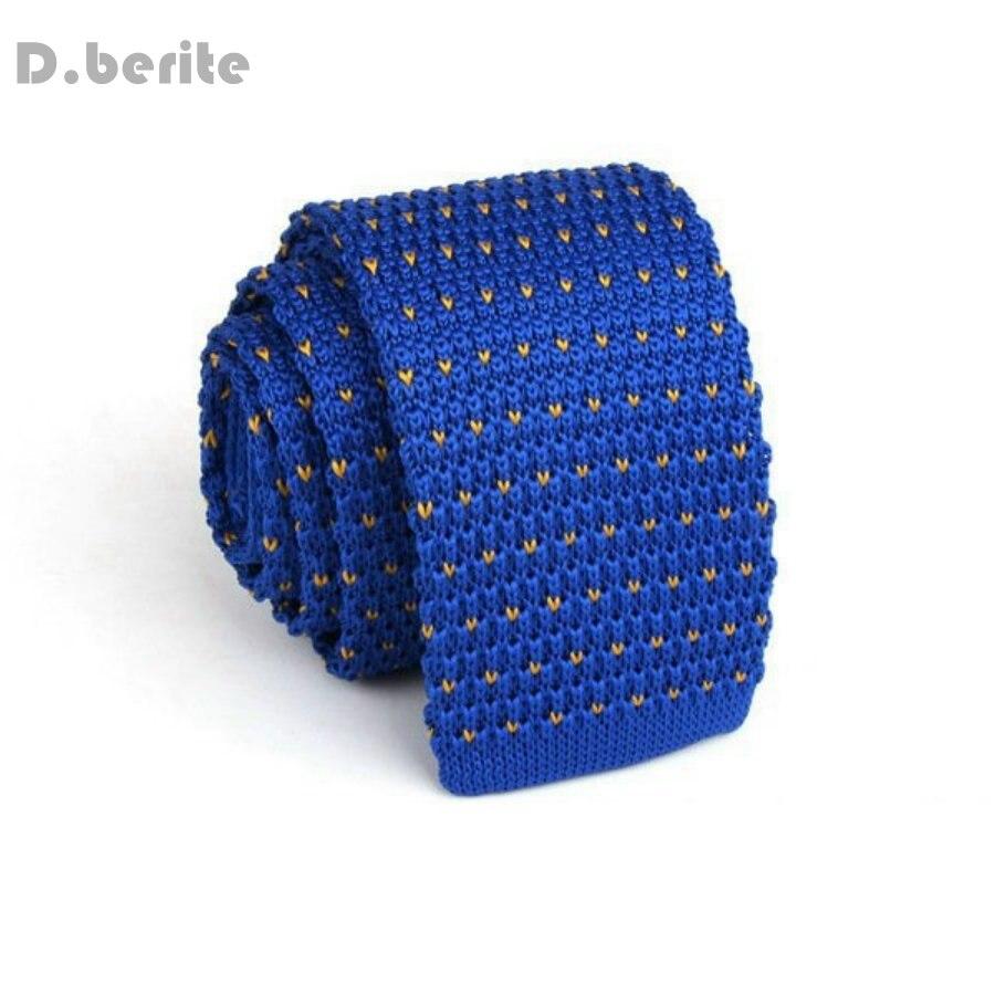 Men\'s Royal Blue Pattern Classical Knit Tie Slim Skinny Knitted Ties ...