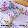 Promoção! 6/7 PCS 100% algodão conjuntos de cama berço do bebê set 100% algodão quilt cover cama berço, 120*60/120*70 cm