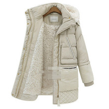 Fashion loose thick lambswool white duck down parka,warm winter hooded jacket,casual winter coat,female parka hot sale TT1488