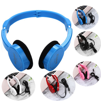 Kubite Kids Wire Headphones On Ear Foldable Stereo Headset For Kids Earphone Big hand free Talk Mp3 Music Gaming