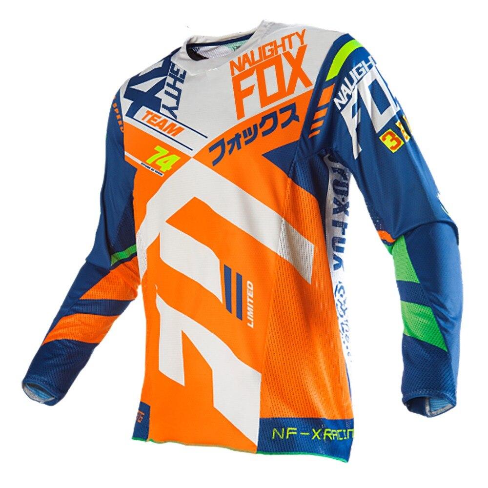 710c6c7f4 NAUGHTY FOX 360 Divizion Motocross Jerseys DH XC Bicycle Cycling Sport Long  Sleeve Shirt ATV BMX MTB Moto Racing Jersey