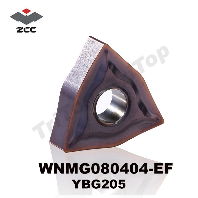 WNMG 080404 -EF YBG205 zcc.ct چرخش درج ابزار wnmg080404 cnc مناسب برای فولاد ضد زنگ