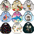 Cute Design Insulated Neoprene Picnic Travel Portable Lunch Bag Tote Women Handbag Box Food Container Cooler Thermal Waterproof