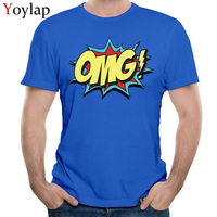 2017 OMG Print Newest Student T Shirts Crew Neck Summer Autumn Short Sleeve Pure Cotton Tops