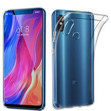 Funda de gel TPU carcasa protectora silicona para movil Xiaomi MI8 Transparente