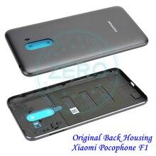 Original Für Xiaomi Pocophone F1 Zurück Batterie Kunststoff PC Hintere Abdeckung Für Mi Poco F1 Gehäuse Batterie Tür Ersatz Ersatz teile
