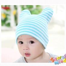 Striped Baby Hats Tire Caps Toddler Skullies Sleep Headgear Ear Bonnet Winter Beanie Baby Girl Crochet Photography Accessories