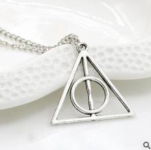 XL1045 2017 Fashion Potter Luna Deathly Hallows geometric triangle pendant necklace