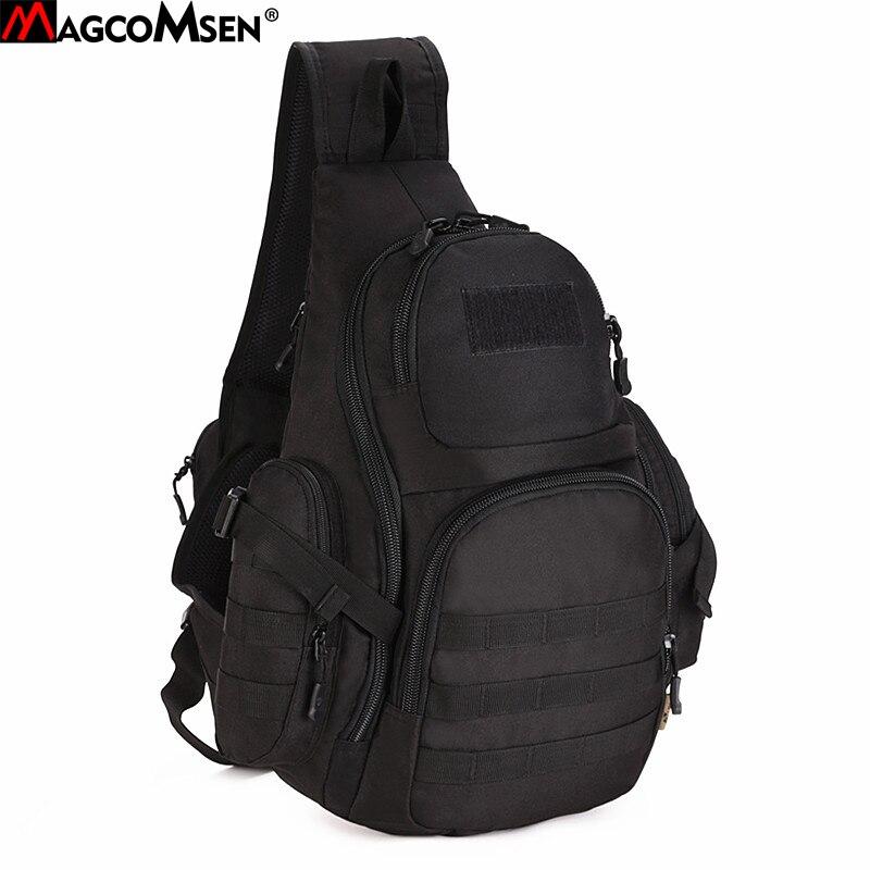MAGCOMSEN Military Backpack Men Nylon Waterproof One Sling Shoulder Bag Molle Airsoft Paintball Crossbody Bags Man