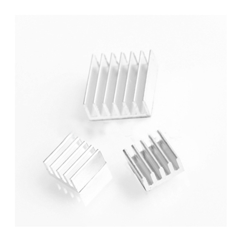 3pcs + Adhesive Raspberry Pi 3 Heatsink Cooler Pure Aluminum Heat Sink Set Kit Radiator For Cooling Raspberry Pi 2 B jeyi cooling warship copper m 2 heatsink nvme heat sink ngff m 2 2280 aluminum sheet thermal conductivity silicon wafer cooling