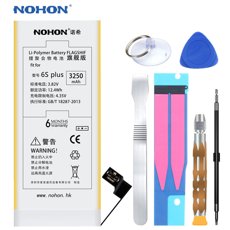 NEW Arrival Original NOHON Battery For iPhone 6S Plus 6SPlus Li ion Replacement Batteries 3250mAh High