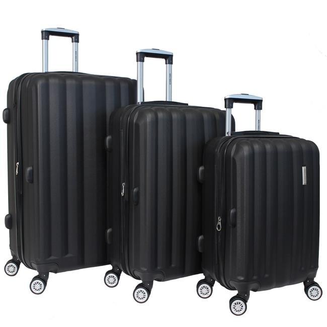 World Traveler WT5000-BLACK Adventure Hardside Spinner Luggage Set Black - 3 Piece alcott traveler adventure pet leash medium orange