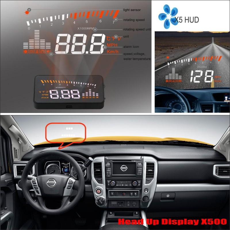 ФОТО For Nissan Altima / Titan 2015 2016 Car Head Up Display Saft Driving Screen Projector - Refkecting Windshield