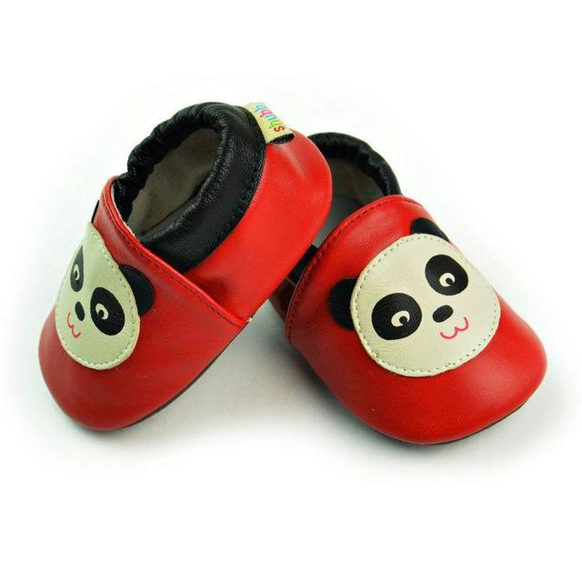 2017 venda quente do bebê berço shoes panda dos desenhos animados feitos à mão de qualidade confortável macio sapato frete grátis bebê primeiro sapato de qualidade