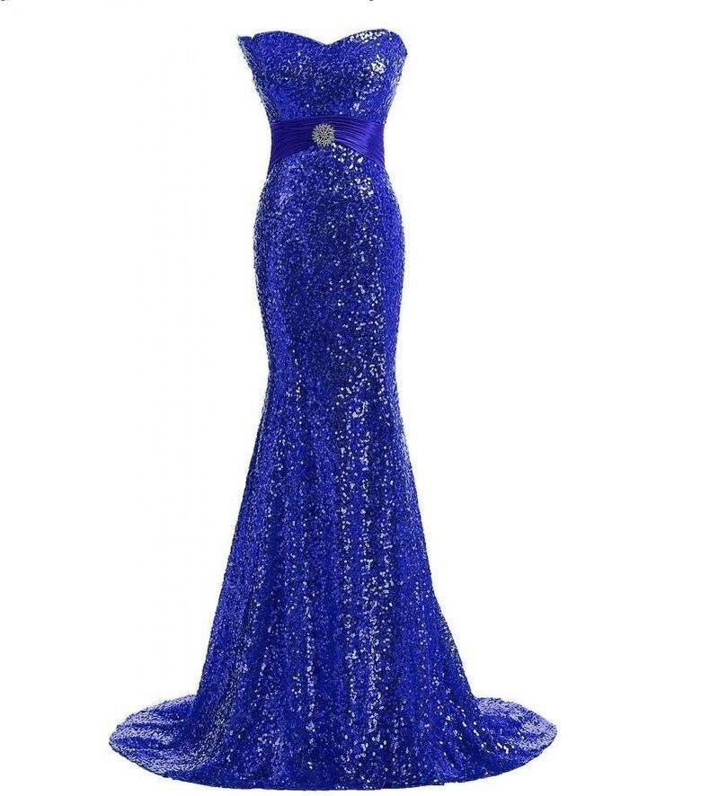 Chérie paillettes or sirène robes de soirée longueur de plancher grande taille argent brillant femmes robes de bal festkjole - 6