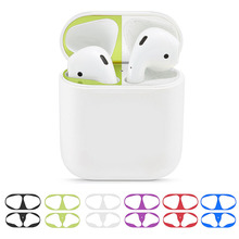 Hot Sale Metal Dustproof Sticker For Apple Airpods1 Earphone Charging Box Skin Protector Airpods Dust Guard Air pods Accessories