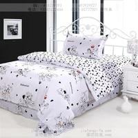 Dog print bedding sets cotton bed sheets bedspread kids cartoon twin size children toddler baby quilt duvet cover bedroom linen