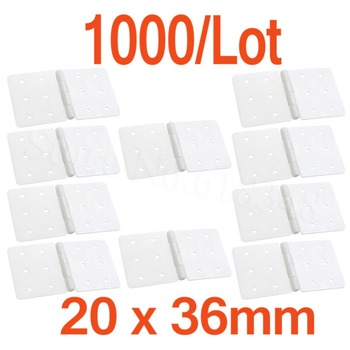 1000pcs Plastic Pinned Nylon Hinges 20x36 mm For RC Airplanes Replacements Parts Model