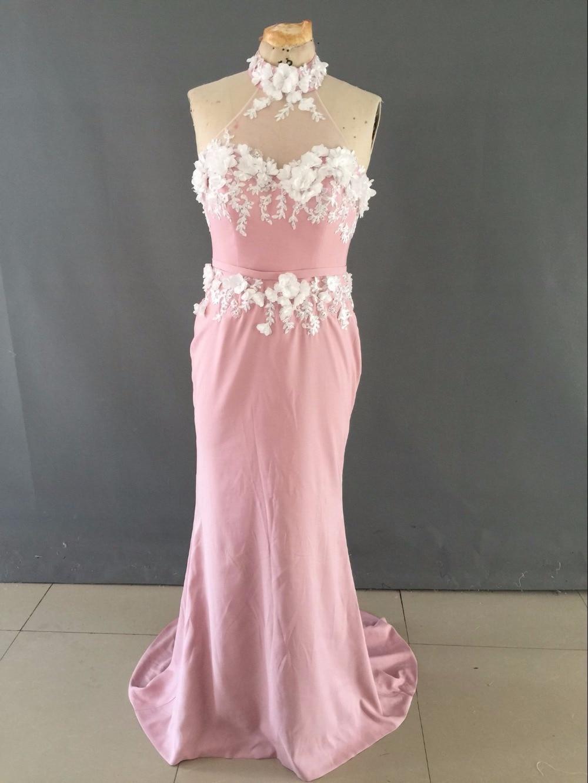 Nuevo Estilo Largo de La Sirena Vestidos de dama de Honor Halter ...