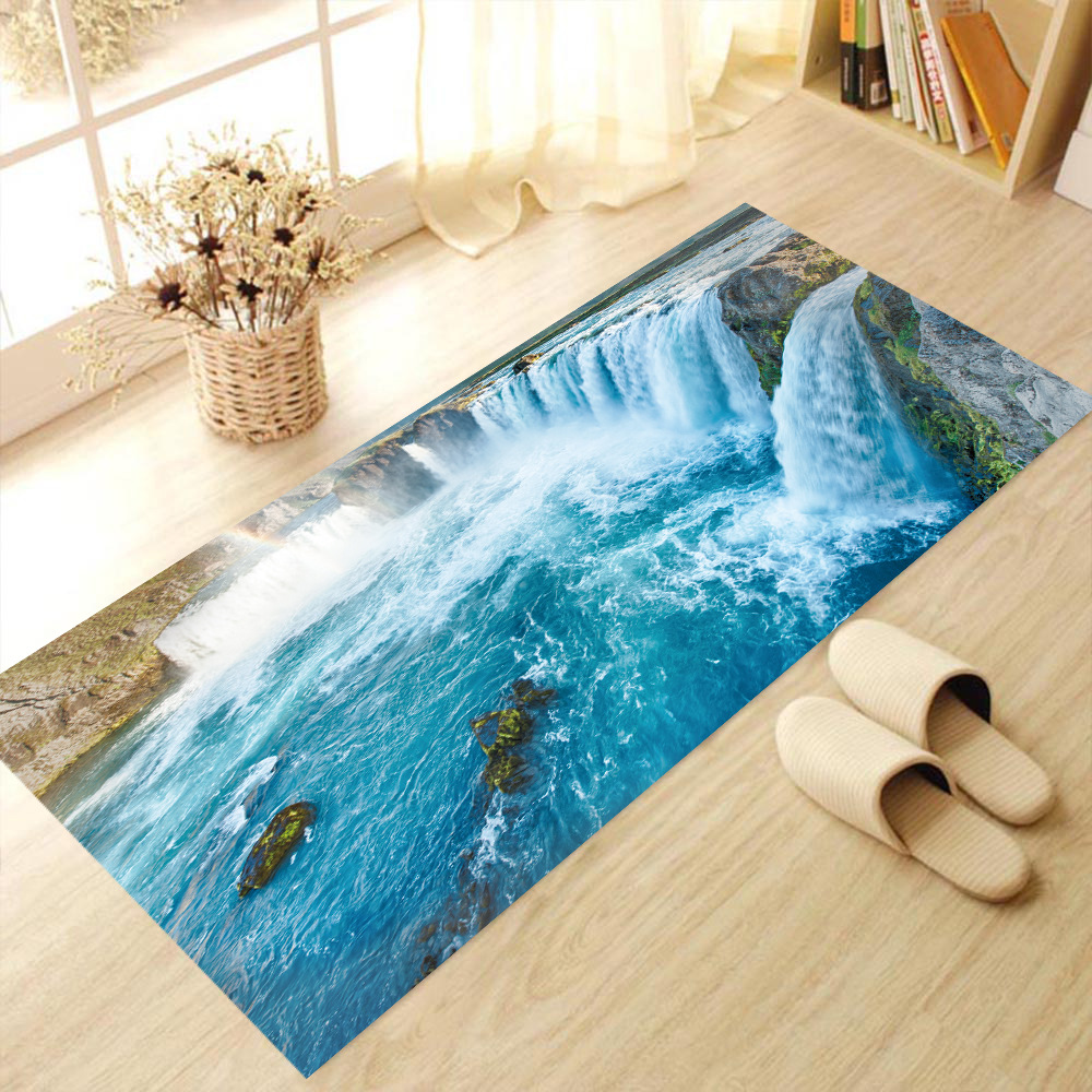 60x120cm 3d Simulation Waterfall River Landscape Stickers