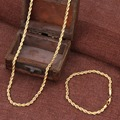 Bangrui 60 см/21 см Золотое ожерелье мужчины карат желтого золота гальваническим коренастый большой цепи женщин унисекс, Оптовая золото ювелирные изделия подарки