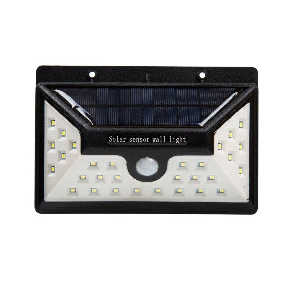 30 светодиодов солнечный свет стены открытый IP65 Водонепроницаемый PIR Сенсор безопасности лампы Супер яркий 550LM освещение сада