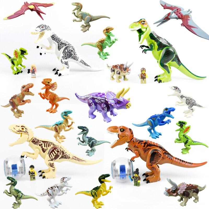 Brutal Raptor Building Jurassic Blocks World 2 MINI Dinosaur Figures Bricks Dino Toys For Children Legoed Dinosaurios Christmas