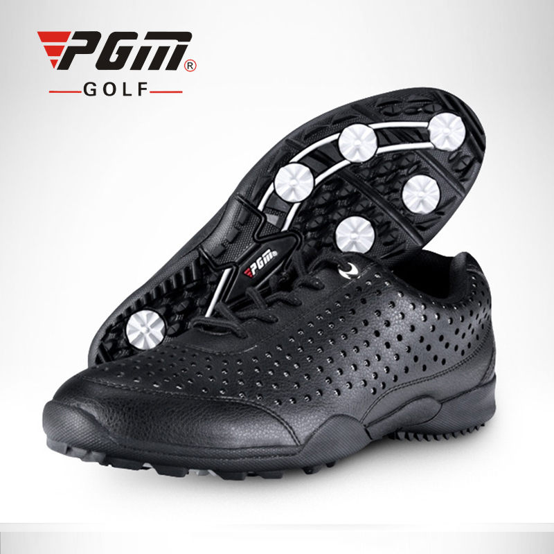 PGM Men's professional golf shoes summer male golf sports shoes breathable wear-resistant anti-slip fixing spike golf Sneakers long jump professional breathable spike running shoe male slip resistant wear resistant sport shoes men female high elastic plus