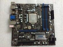 original desktop motherboard for MSI H55M-P32 LGA 1156 DDR3 for i3 i5 i7 cpu 16G VGA H55 motherboard free shipping