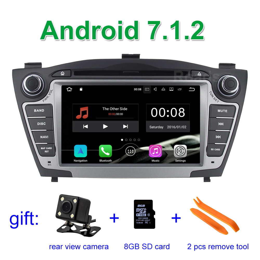 Android 7.1.2 Car DVD Player Radio for Hyundai IX35 Tucson 2011 2012 2013 with Bluetooth WiFi GPS head device unit stereo