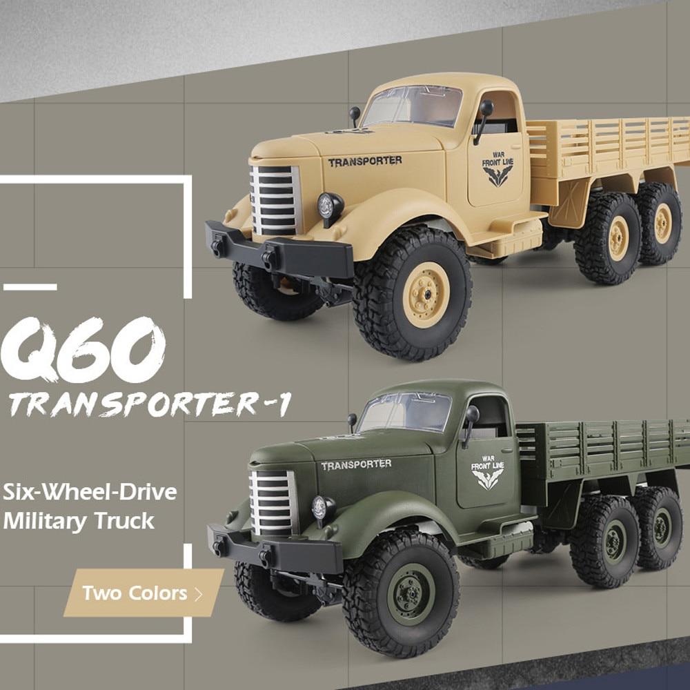 JJRC Q60 RC автомобилей 1:16 дистанционное управление 2.4g 6WD отслежены внедорожных военный грузовик автомобиль RTR для детей подарок на день рождени...