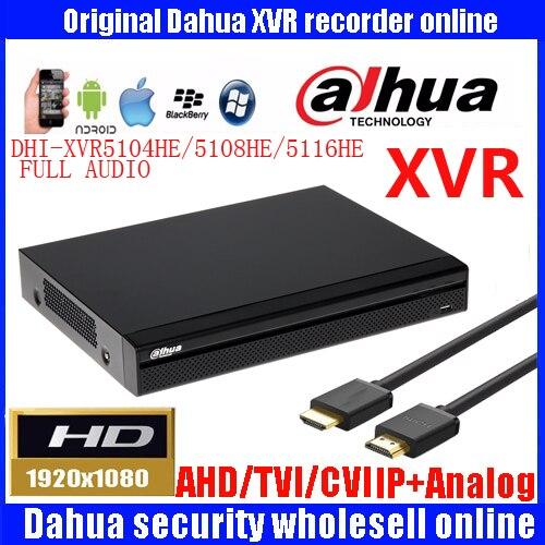Dahua 4ch 8ch 16ch 1080P video recorder DH-XVR5104HE/DH-XVR5108HE/DH-XVR5116HE Support HDCVI/AHD/TVI/CVBS/IPcamera Mini 1U