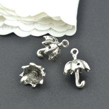 15 sztuk Antique srebrny kolor stopu cynku parasol Charms wisiorki/biżuteria do własnoręcznego wykonania ustalenia akcesoria hurtownie 20*13mm J150