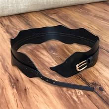 Genuine Leather Belts For Women Wide Elastic Corset Belts Cummerbunds Female Strap Ceinture Femme  Corset Belt Woman BTW0008
