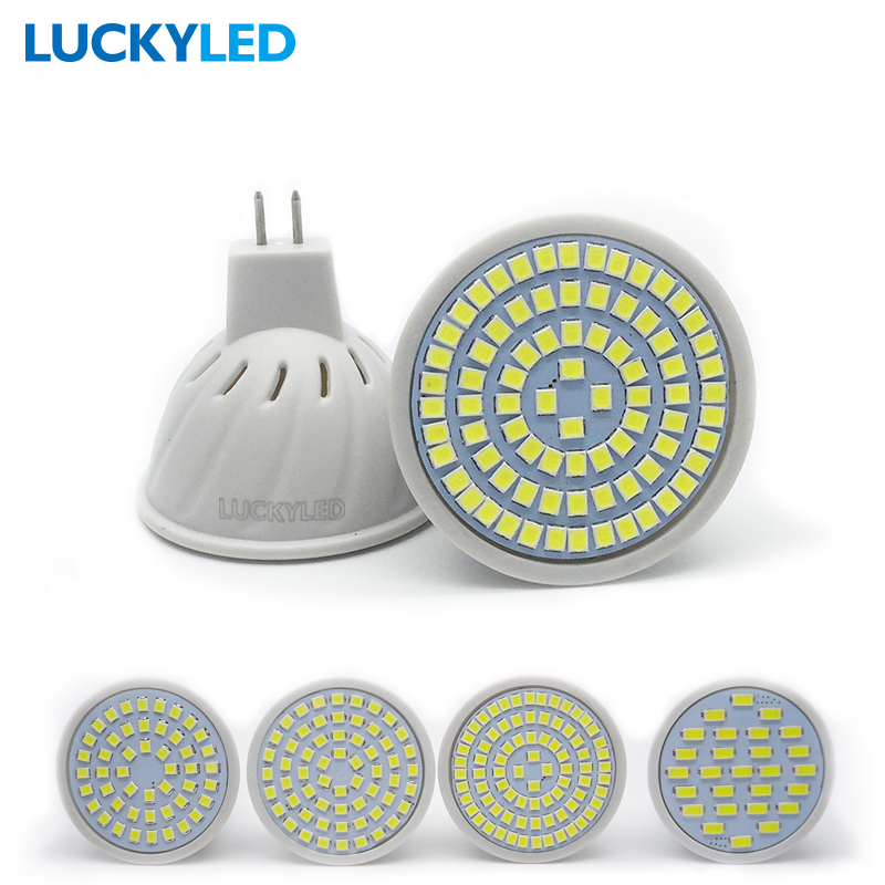 LUCKYLED Bombillas Led GU5.3 AC 220V /110V 3W 4W 5W 6W  SMD 2835 / 5730 LED Spotlight  For Home Lampada Bulbs