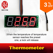 adventurer escape room game thermometer prop JXKJ1987 detect the preset temperature to release lock get away