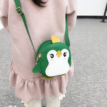 New 2019 Children Girls Messenger Bag Cartoon Penguin Cross Body Bags Handbag Kids Mini PU Leather Lovely Shoulder Bag Bolsa