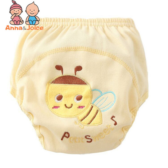 3 Pcs/lot Baby Washable Diapers Underwear/100% Cotton Breathable Diaper Cover/Training Pants B1trx0002 3