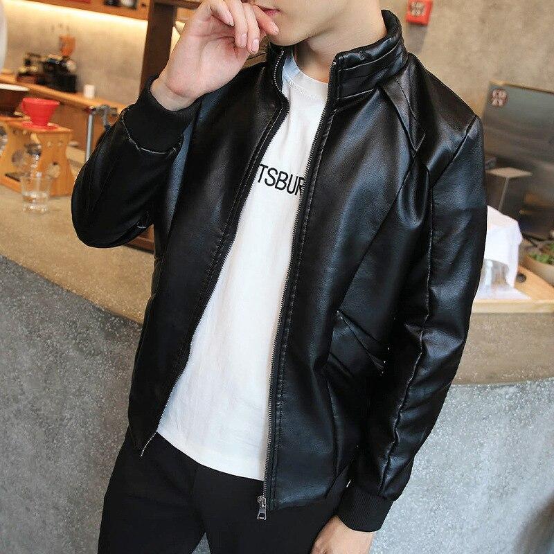 Men Leather Jacket 2017 New Fashion Brand Pu Leather Jacket Men Motorcycle Leather Jackets Overcoat Jaqueta High Quality