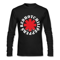 T Shirt Men Red Hot Rock New Unique Rock Music Hip Hop Cheap Clothes Brand Long