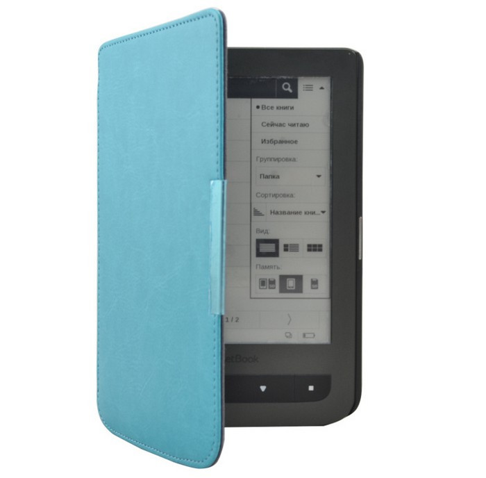 New Crazy Horse Magnetic Flip Leather Cover Case For Pocketbook Touch 614624626 6 6 inch Free Shipping (8)