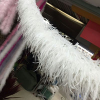 Free Shipping 1 unids 5 layers WHITE Ostrich Feathers Boa for party supply