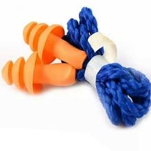 Protetor de natação suave durável redução de ruído com corda sono impermeável orelha plug silicone laranja forma da árvore de natal