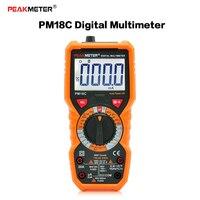 PEAKMETER PM18C High Precision Handheld Digital LCD Multimeter Profession AC DC Voltage Current Temperature