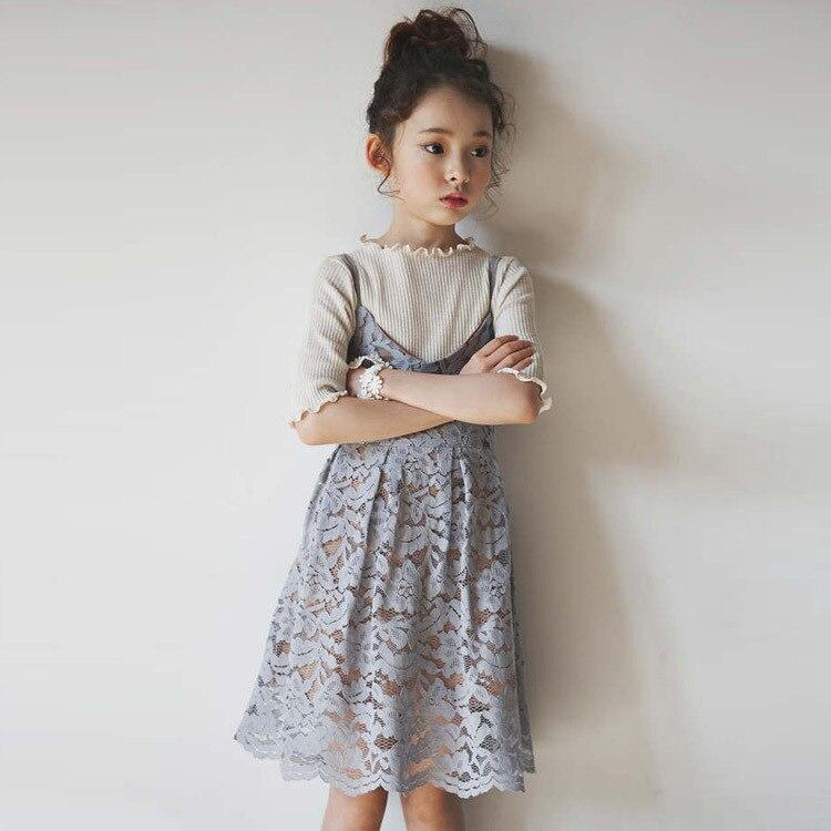 Retail 4 13yrs Teenage Girls Lace Slip Dresses Vintage Summer ...
