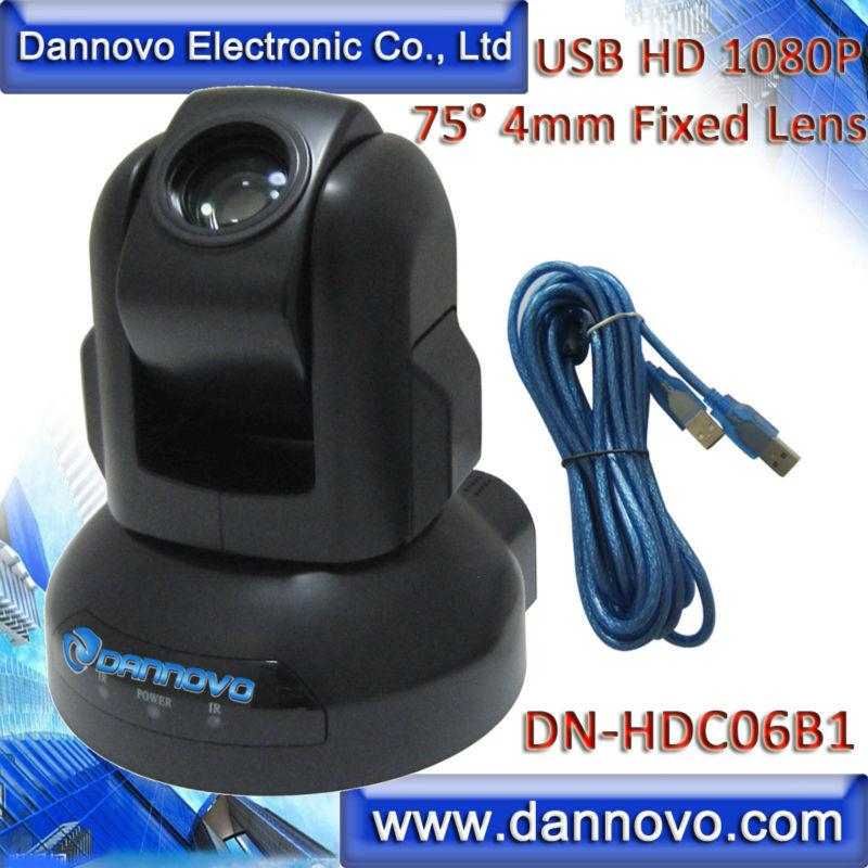 DANNOVO USB HD 1080P-konverteringskamera, Pan / Tilt-webbkamera, fast - Kontorselektronik